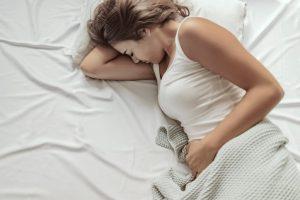 El síndrome premenstrual termina cuando empieza la regla.